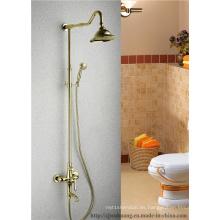 Baño de baño plateado oro Faucet (MG-7376)