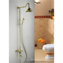 Torneiras de chuveiro do banho do banheiro da cabeça de chuveiro da forma da flor (mg-7376)