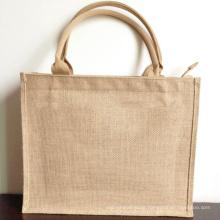 Wholesale renewable personalized mumbai promotional handle natural jute shopping book bags