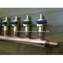 Патрубок Pex из медной трубы с шаровым клапаном