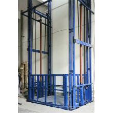 guide rail goods handling lift table