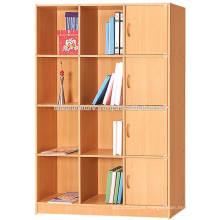 Archivador, puerta, madera, libro, estante