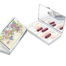 Коробка для хранения таблеток, изготовленная из металла с 6 ящиками