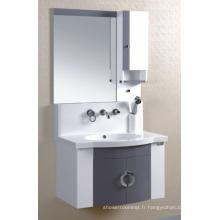 Meubles de Cabinet de salle de bains de PVC de 80cm (P-016)