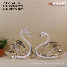 Свадебные украшения фигуры животных скульптуры смолаы лебедь статуи для домашнего декора