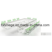 Modern Conjoined U Shape Office Conference Room Table (FOH-TD-AM1207-B)