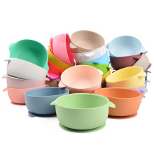 BPA free silicone plate cute baby silicone suction bowl