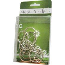 Pequeños juegos de rompecabezas de metal en anillo con enclavamiento 3D