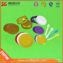 Cubierta plástica de la tapa del casquillo del grado del alimento modificado para requisitos particulares