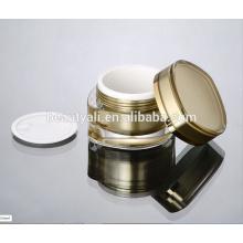 Frasco de crema acrílico en forma de hoja 15ml 30ml 50ml