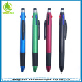 2015 promotional multifunction 3 color cheap plastic touch screen stylus pen