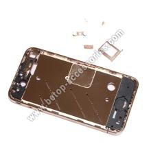 iPhone4 noir cadre doré