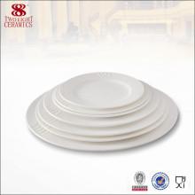 Porcelain Ceramic microwave dish bone china plate white
