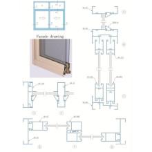 Profil en aluminium pour fenêtres coulissantes et portes