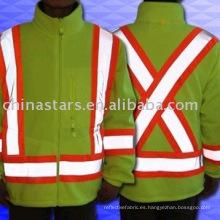 Chaqueta de seguridad reflectante de alta visibilidad