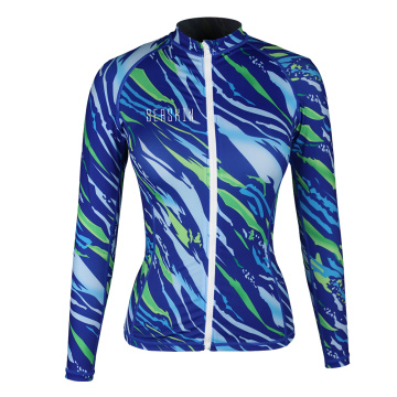 Seaskin Frauen Front Zip Rash Guard Jacke