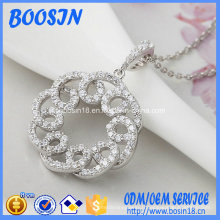 Bijoux de collier en argent de haute qualité d'usine pour le mariage