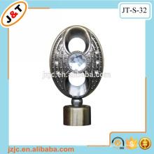Varilla flexible doble de la cortina del metal con la tapicería de la cortina del diamante