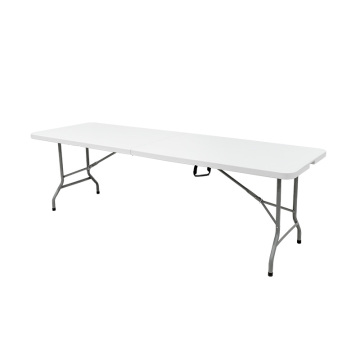 244CM 8FT Rectángulo Plástico Plegable En Media Mesa