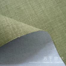 Fr imitação de linho tecido 100% poliéster para o sofá