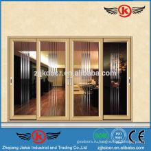 JK-AW9121 роскошный используемый водонепроницаемый алюминиевый сплав раздвижные двери и окна