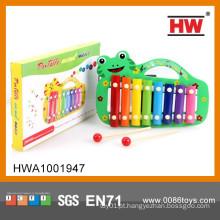 Novo Design Para Crianças Brincar Jogo Cartoon Frog Wooden Xylophone