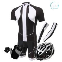 100% poliéster Jersey de ciclismo do homem