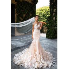 Сексуальная Мода Кружева Спинки Русалка Свадебное Платье Свадебное Платье