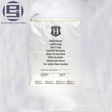 Flat bottom clear printed plastic packaging bag