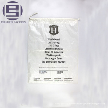 Verpackungsbeutel mit flachem Boden und klar bedrucktem Kunststoff