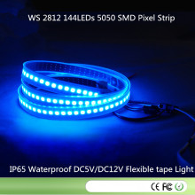 Tira Digital LED Ws2812 144LEDs / M 144pixels / M, 2m / Rollo, PCB Negro, Tubo De Silicona Impermeable IP67, Entrada DC5V