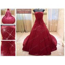 Robe de mariée rouge sur mesure de qualité supérieure la plus noble