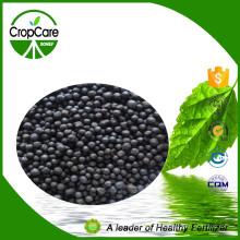 Engrais bio concentré granulé noir et concentré hautement concentré 15-5-25 Fertilisant