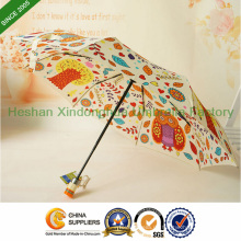 Qualität Farbe Muster Automatic Folding Umbrella für Geschenke (FU-3821BFD)
