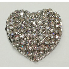 Heart Shapes Rhinestone Shoe Clips, Fashion Garment Clips