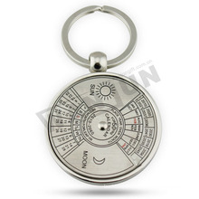round shape keychain,metal keychain,compass keychain