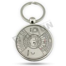Круглый брелок для ключей, металлический брелок для ключей, брелок для компаса