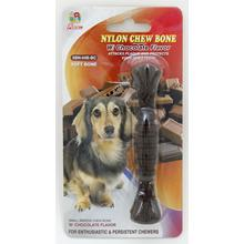 "Percell 4,5 ""Nylon Dog Mastigar Spiral Bone Chocolate Scent"