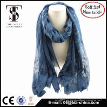 Bufanda blended de la manera de la sensación suave material con flocado