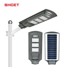 Factory direct sale high lumen outdoor Ip65 40w 80w 120w 160w led solar street light all in one