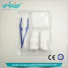 Conjuntos de curativos descartáveis para feridas médicas