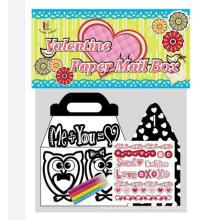 crianças DIY preenchendo caixas de colorir caixa de correio difusa