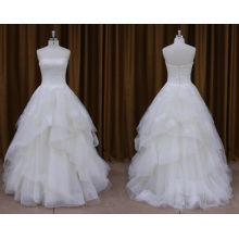 Strapless Organza Beaded Wedding Dress