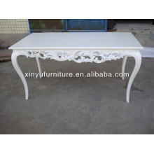 White event party table with classical hand carving D1002