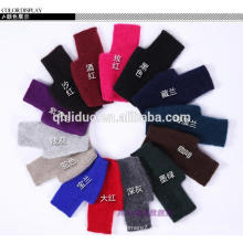 Venta al por mayor Basic Simple Styles Fashion Ladies Mittens Black short Cashmere Fingerless Gloves