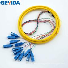 Sc/Upc 12 Core Fiber Optic Prtch Cord / Pigtail