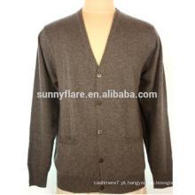 OME de alta qualidade mangas compridas camisola de cachemira ajustável para homens