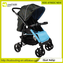 2015 New Baby Stroller China Fabricante Leve Reversível Assento Direção Rodas Giratórias com Suspensão Direção Fixador