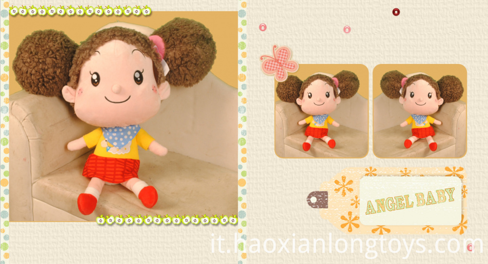Cartoon girl plush dolls