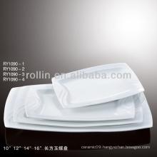 nice healthy white rectangular porcelain dishes